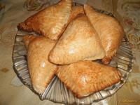Рецепт Треугольники из теста с куриной грудкой рецепт с фото