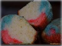 Рецепт Кексы цветные рецепт с фото