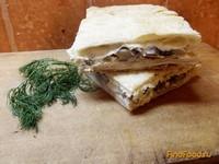 Рецепт Быстрый пирог с грибами и сыром рецепт с фото