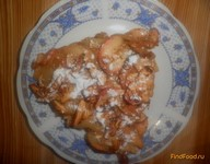 Рецепт Пирог с овсянкой и яблоками рецепт с фото