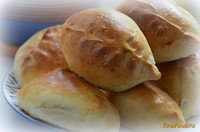 Рецепт Пирожки дрожжевые с капустно-картофельной начинкой рецепт с фото