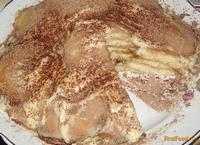 Рецепт Бисквитный торт с заварным кремом рецепт с фото
