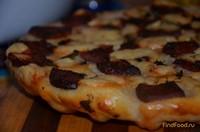 Рецепт Пирог с колбасой и сыром рецепт с фото