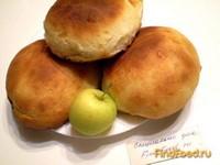 Рецепт Булочки ванильные с яблоками рецепт с фото