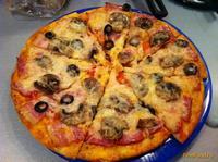 Рецепт Пицца с беконом рецепт с фото