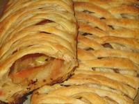 Рецепт Слоеные плетенки с яблоками рецепт с фото