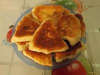 Рецепт Творожные треугольники с грушей рецепт с фото