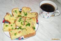 Рецепт Кекс с мясом сыром и зеленым луком рецепт с фото