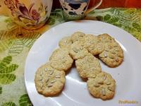 Рецепт Печенье с овсяными хлопьями и кунжутом рецепт с фото
