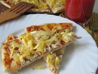 Рецепт Пицца с курицей и ананасами рецепт с фото