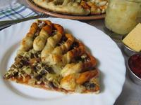Рецепт Пицца с грибами и ананасами рецепт с фото