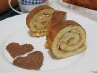 Рецепт Рулет бисквитный с повидлом и кокосовой стружкой рецепт с фото