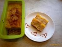 Рецепт Яблочный кекс с яичной заливкой рецепт с фото