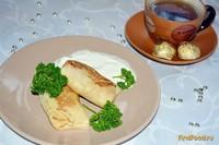 Рецепт Блины на простокваше с мясом рецепт с фото