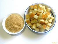Рецепт Гренки для бульона и панировочные сухари рецепт с фото