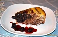 Рецепт Запеканка творожно-шоколадная с вишней рецепт с фото