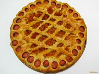 Рецепт Пирог с сосисками и тушеной капустой рецепт с фото