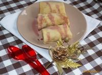Рецепт Блинчики нежные с ананасовым кремом рецепт с фото