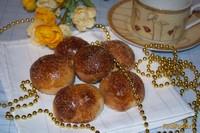 Рецепт Домашние булочки с персиковым повидлом рецепт с фото