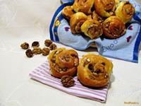 Рецепт Булочки с орехами и кокосовой стружкой рецепт с фото