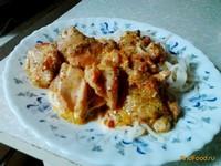 Рецепт Нежная курица в молочном соусе рецепт с фото