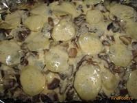 Рецепт Запеченная картошка и свинина с грибами рецепт с фото