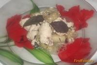 Рецепт Куриное филе с баклажанами под простоквашей рецепт с фото