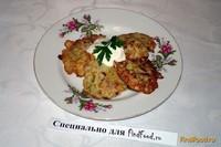 Рецепт Кабачковые блинчики с куриным мясом рецепт с фото