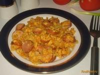 Рецепт Жареные сосиски с морковью луком и яйцом рецепт с фото