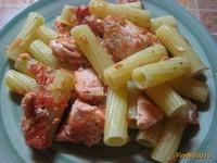 Рецепт Паста с семгой и помидорами рецепт с фото