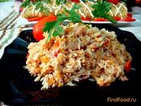Рецепт Рис с тунцом и овощами рецепт с фото