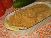 Рецепт Куриное филе в кунжутной панировке рецепт с фото