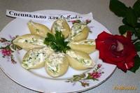 Рецепт Conchiglie с голубым сыром рецепт с фото