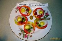 Рецепт Фаршированные помидоры с перепелиными яйцами рецепт с фото