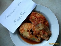 Рецепт Минтай в томатном соусе рецепт с фото