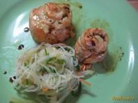 Рецепт Розочки из семги в духовке рецепт с фото
