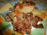 Рецепт Картофель с мясом в духовке рецепт с фото