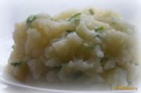 Рецепт Картофельное пюре на луковом бульоне с зеленью рецепт с фото