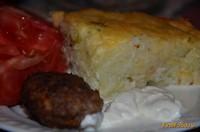 Рецепт Запеканка из тертого картофеля под сырной корочкой рецепт с фото