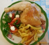 Рецепт Курочка в духовке запеченная с картофелем рецепт с фото