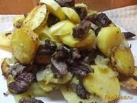 Рецепт Праздничный картофель запеченый с говядиной рецепт с фото