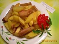 Рецепт Картофель с салом и перцем рецепт с фото