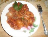 Рецепт Фаршированные макароны в томатном соусе рецепт с фото