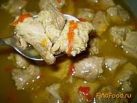 Рецепт Мясо тушенное со сливами и перцем чили рецепт с фото