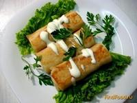 Рецепт Блинчики с мясом и грибами рецепт с фото