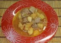 Рецепт Картошка тушеная со свининой рецепт с фото
