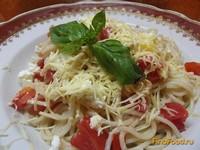 Рецепт Паста с помидорами и двумя видами сыра рецепт с фото