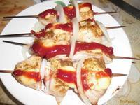 Рецепт Быстрый шашлык из куриной грудки на шпажках рецепт с фото