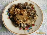 Рецепт Баклажаны с луком и сметаной рецепт с фото