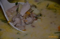 Рецепт Сырный гречневый суп с курицей рецепт с фото